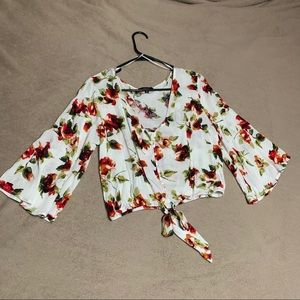 Forever 21 Floral Print Crop Top/Blouse.